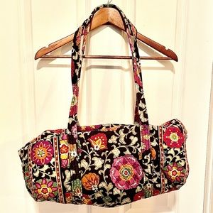 Vera Bradley quilted floral overnight bag